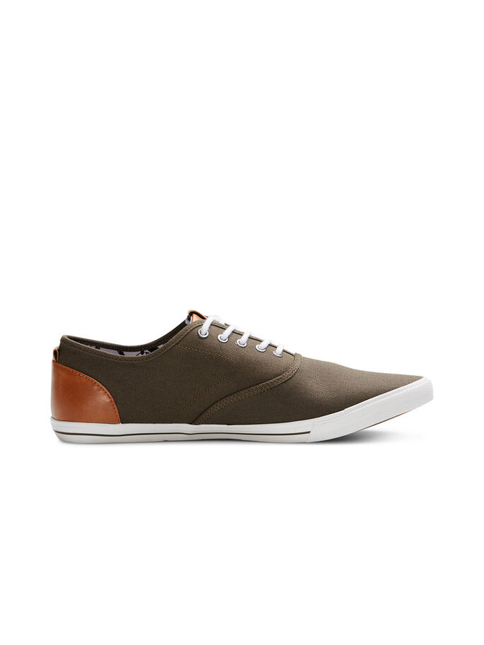 CANVAS SNEAKERS, Olive Night, large