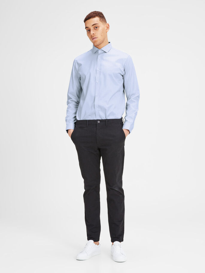 SPREAD COLLAR BUSINESS SHIRT, Cashmere Blue, large