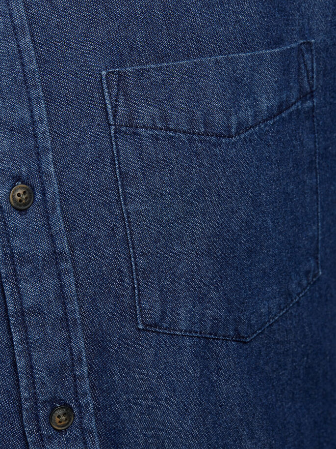LANGÄRMELIGES JEANSHEMD, Dark Blue Denim, large