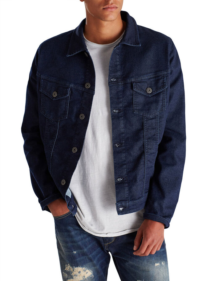 INDIGO DENIM JACKET, Blue Denim, large
