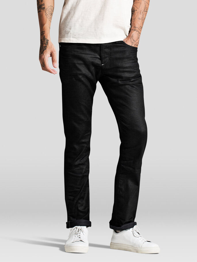 CLARK ORIGINAL BL 370 REGULAR FIT JEANS, Black Denim, large
