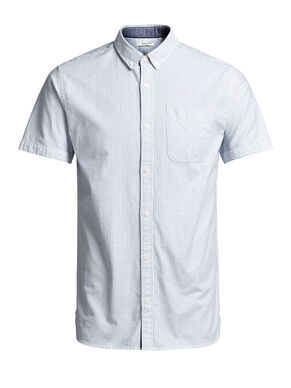 RELAXED BOTTOM-DOWN SHORT SLEEVED SHIRT