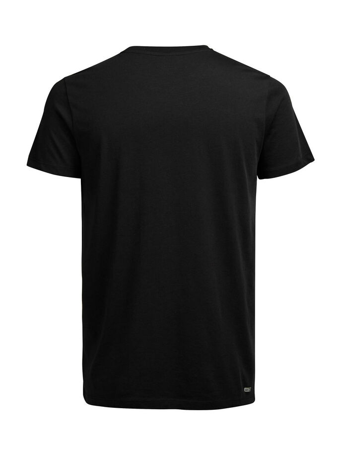 LEBHAFT BUNTES T-SHIRT, Black, large