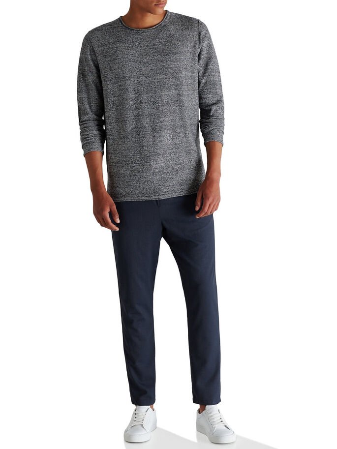 CLASSIC O-NECK PULLOVER, Jet Stream, large