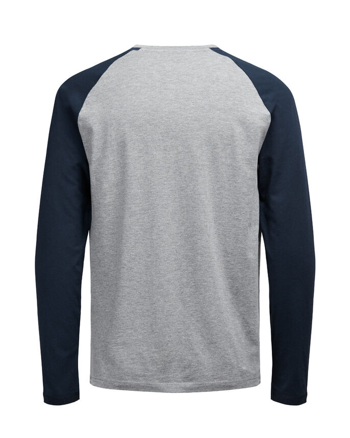 CASUAL LANGÆRMET T-SHIRT, Navy Blazer, large