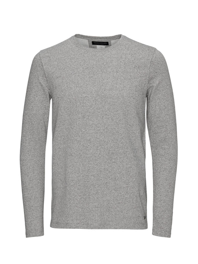 MELANGE- SWEATSHIRT, Light Grey Melange, large