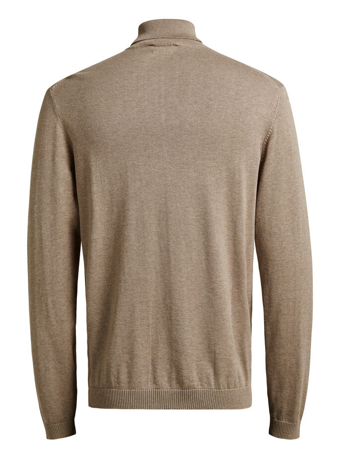 CLASSIC SILK BLEND PULLOVER, Camel, large
