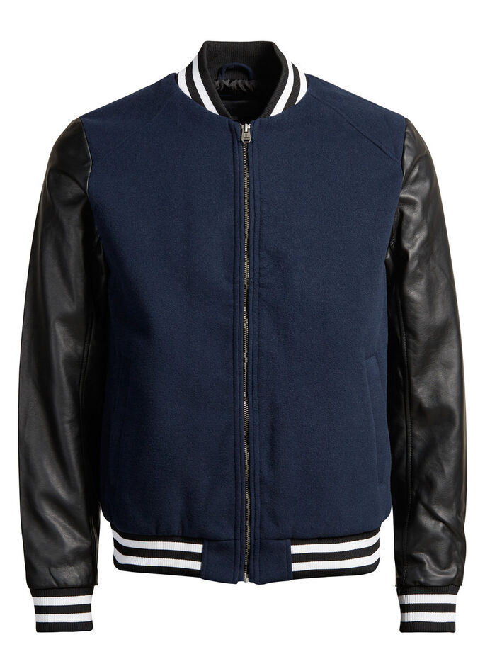 BASEBALL JACKET, Black, large