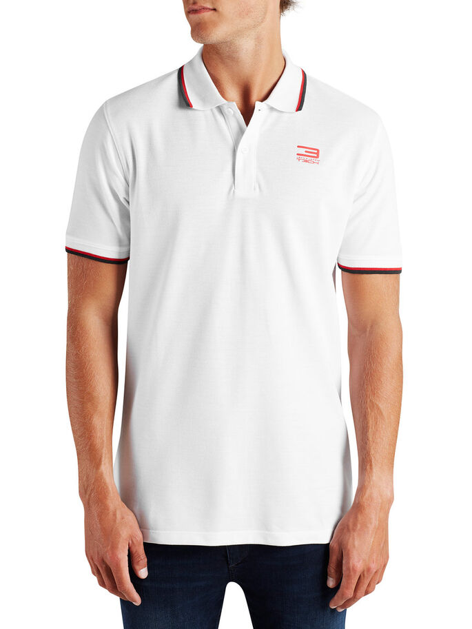 KLASSISK POLOSKJORTE, White, large