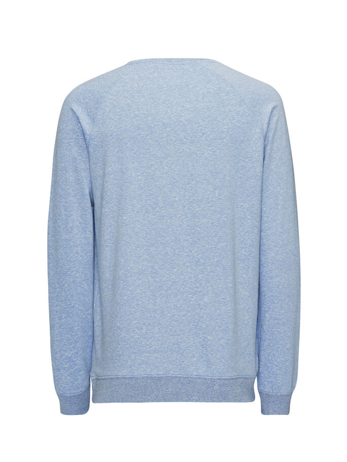 MELANGE SWEATSHIRT, Federal Blue, large