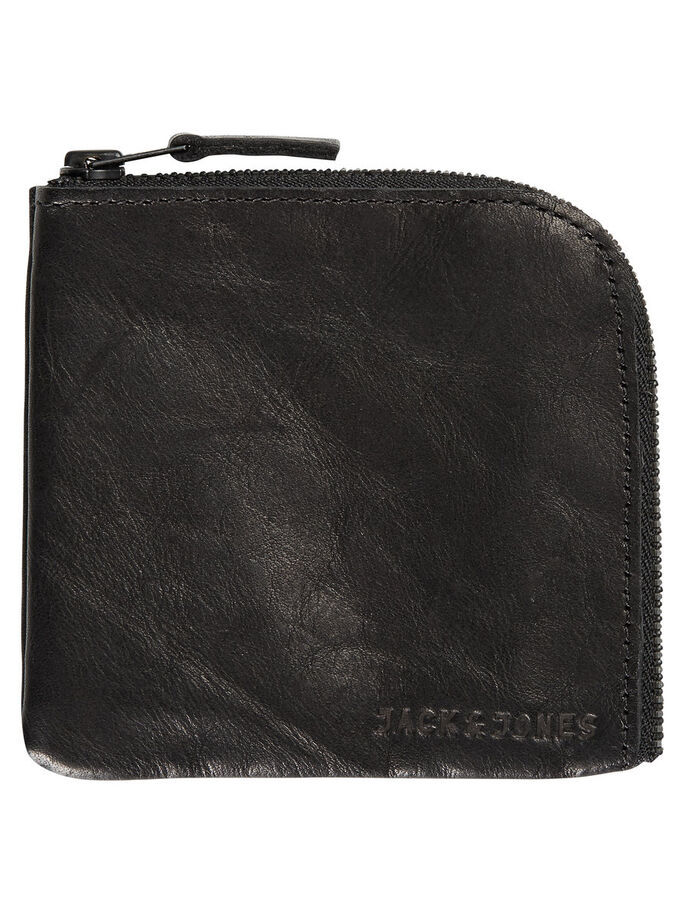 LEATHER WALLET, Black, large