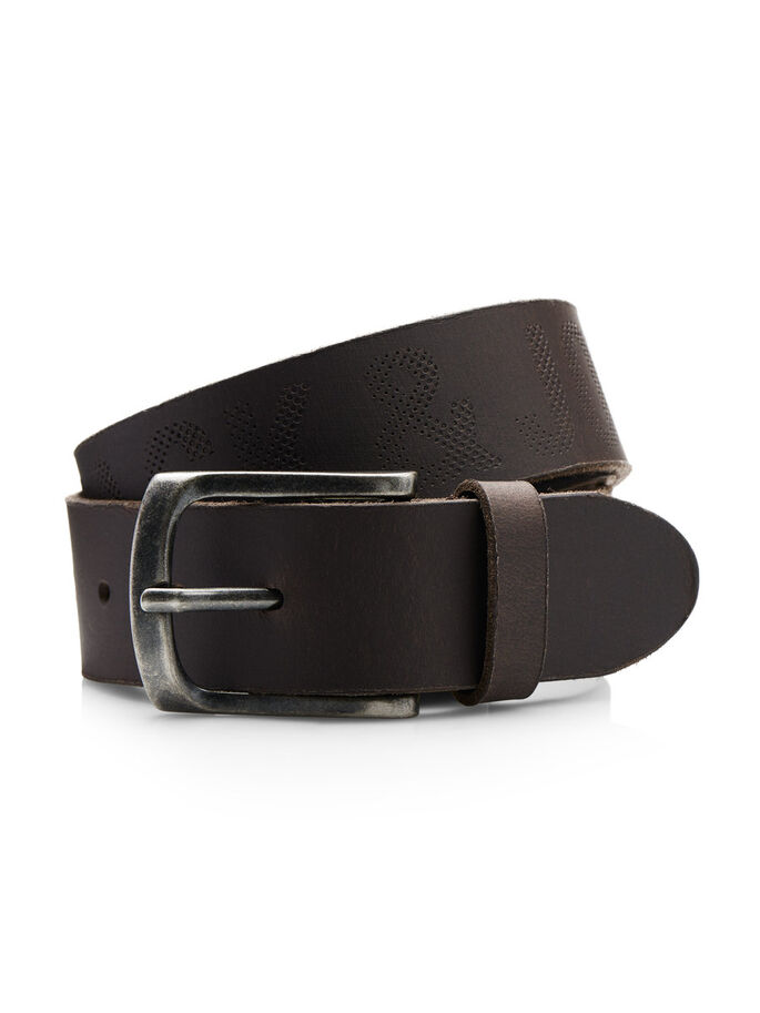 LEATHER BELT, Black Coffee, large
