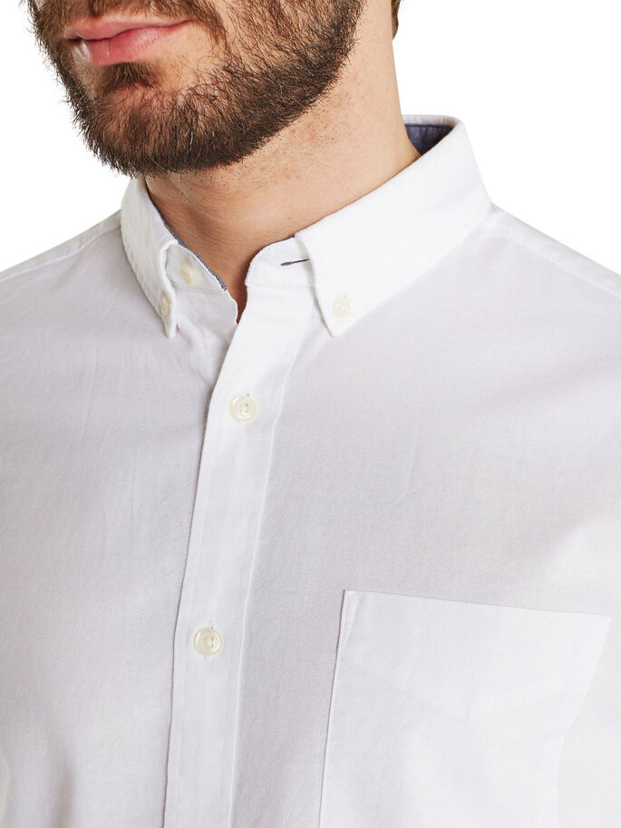CLASSIC OXFORD LONG SLEEVED SHIRT, White, large