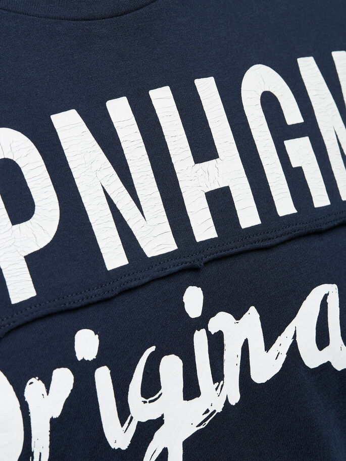 DETAILED T-SHIRT, Navy Blazer, large