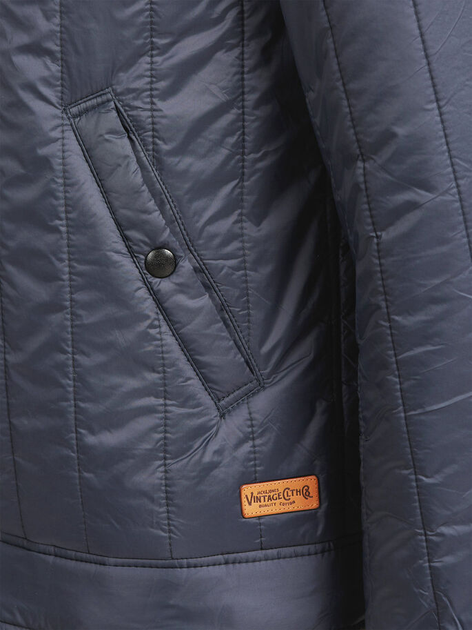 QUILTED JACKET, Dark Navy, large