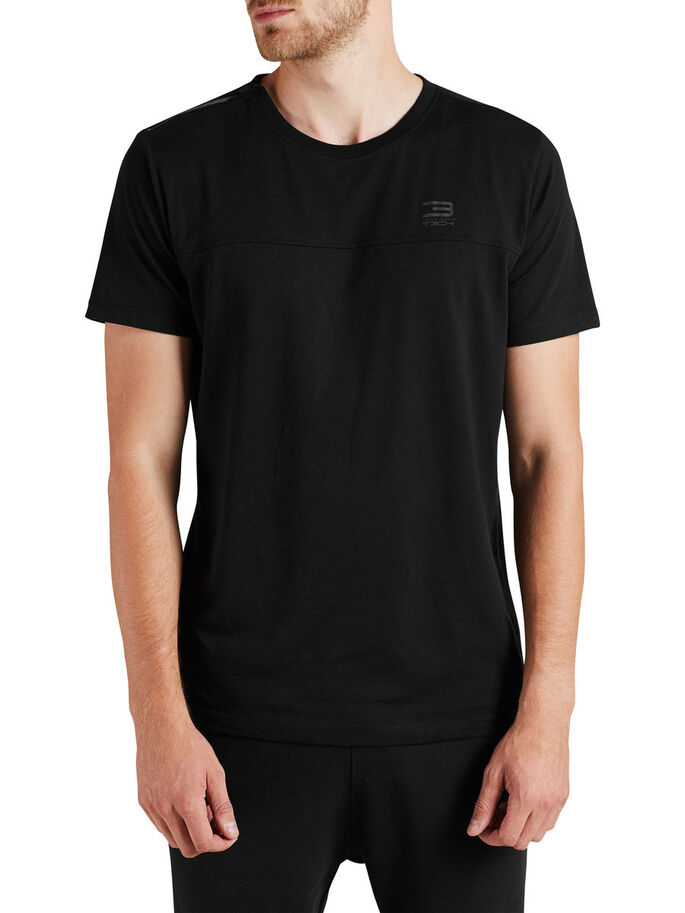 QUICK DRY T-SHIRT, Black, large