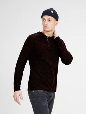 CASUAL MELANGE SLIM FIT LONG-SLEEVED T-SHIRT