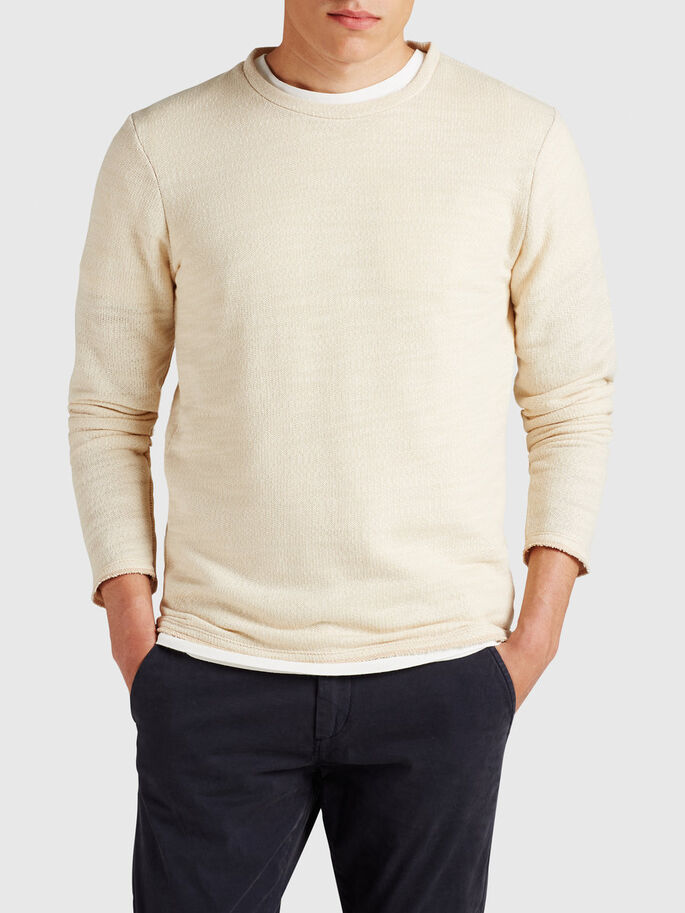 ROBUST MELANGE SWEATSHIRT, Fog, large