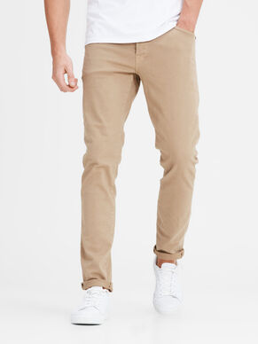 GLENN FOX INDIGO KNIT AKM 353 KELP TROUSERS