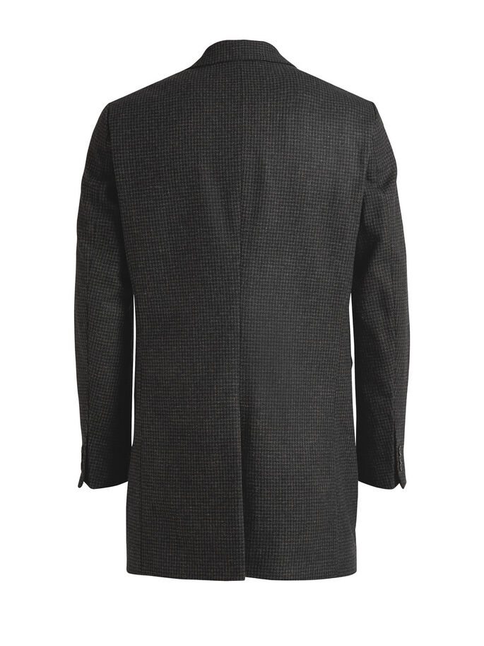 WOOL-BLEND HOUNDSTOOTH COAT, Black, large