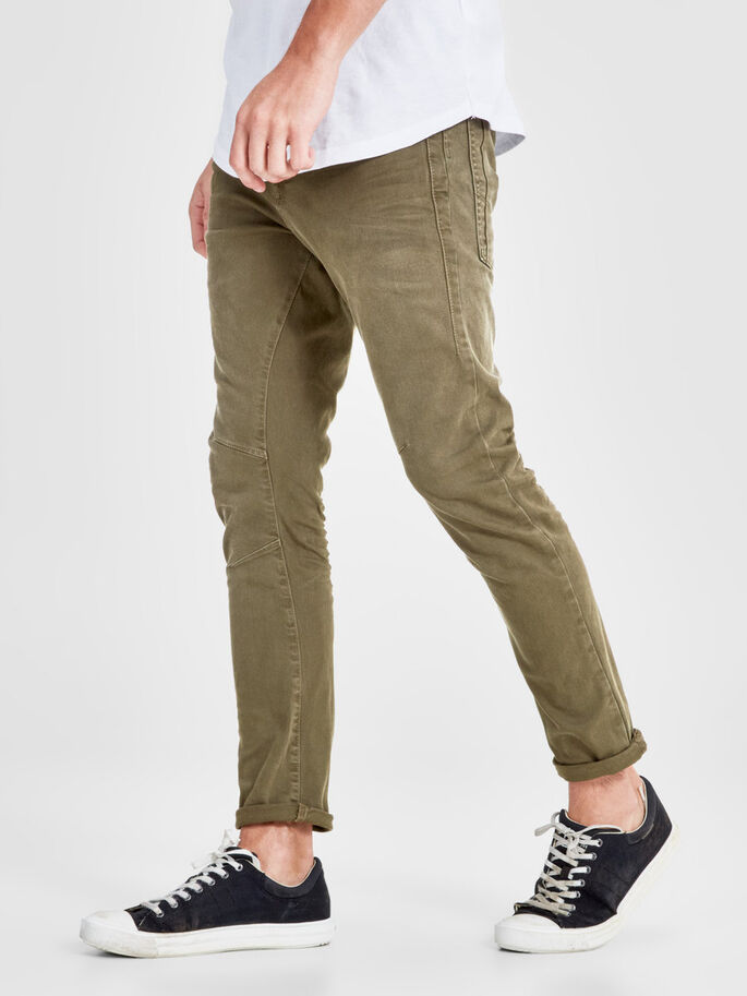 LUKE JOS 999 PANTALONES, Olive Night, large