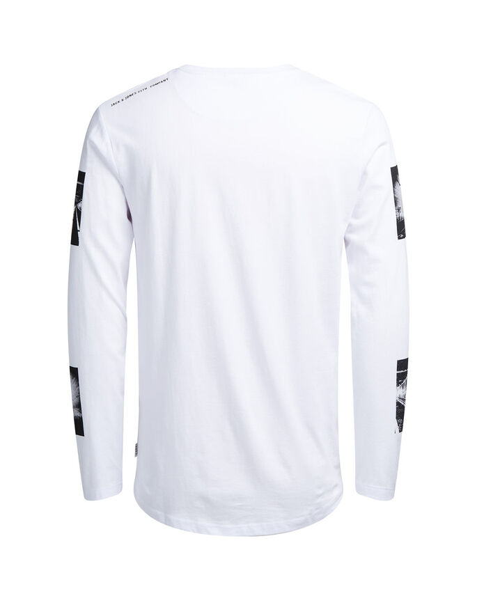 GRÁFICO CAMISETA DE MANGA LARGA, White, large