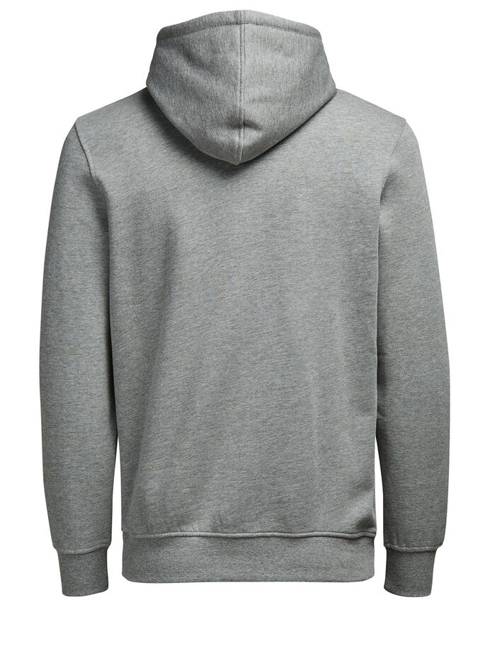 GRAPHIC HOODIE, Light Grey Melange, large