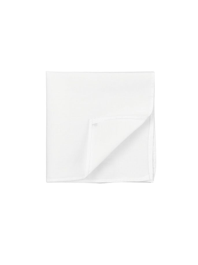 SILK POCKET SQUARE, White, large