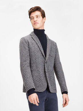 WOOL-BLEND PATTERNED BLAZER