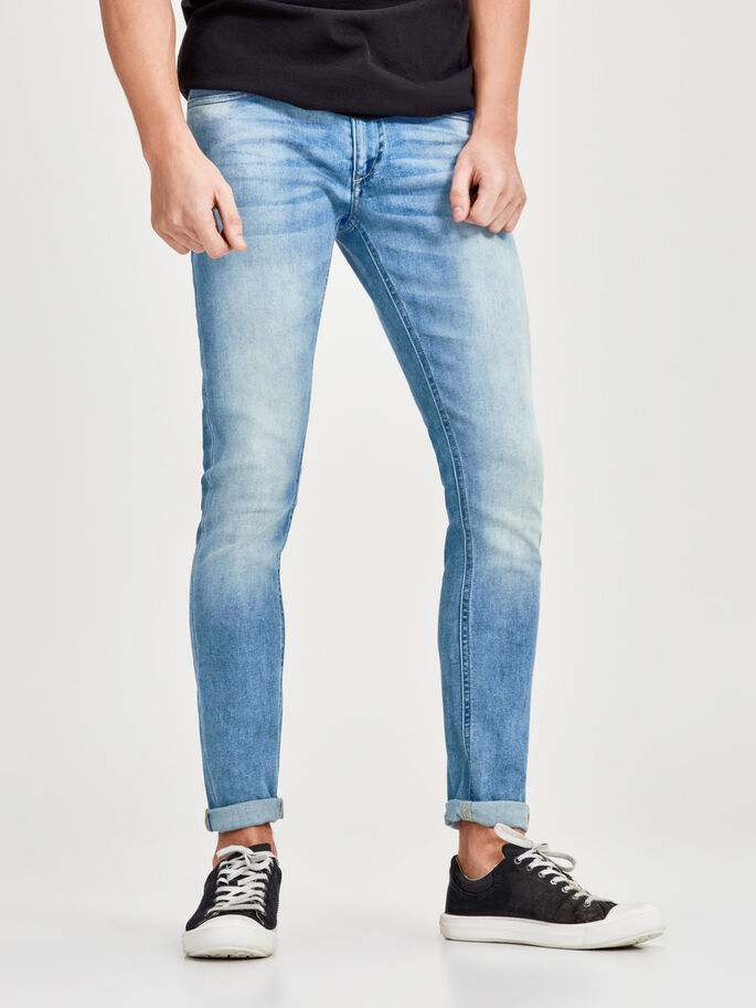 LIAM ORIGINAL GE 404 SKINNY JEANS, Blue Denim, large