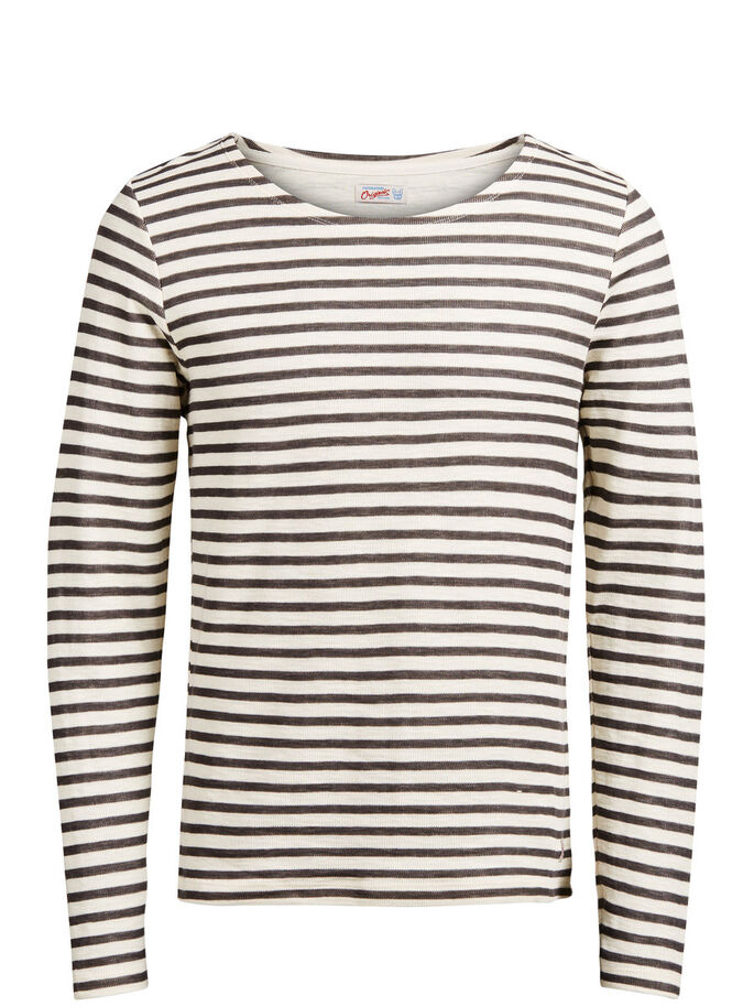 CLASSIC STRIPED SWEATSHIRT, Raven, large