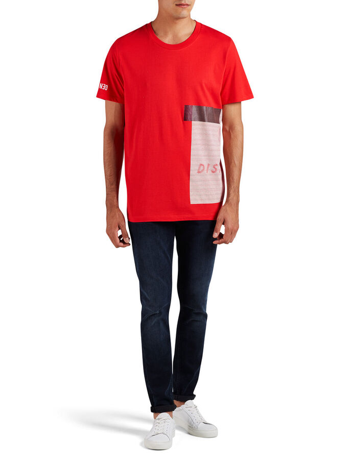 OVERSIZE GRAFISCHE T-SHIRT, Fiery Red, large