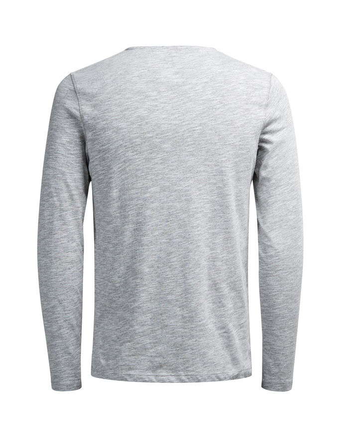 MELANGE LONG-SLEEVED T-SHIRT, Grey Melange, large
