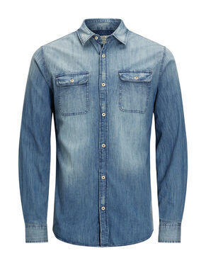 DENIM WORKWEAR SPIJKERBLOUSE