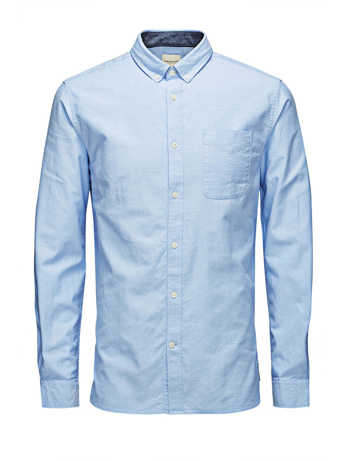 CLASSIC OXFORD CASUAL SHIRT, Cashmere Blue, large