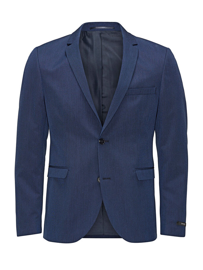 STRUKTURIERTER BLAZER, Blue Depths, large