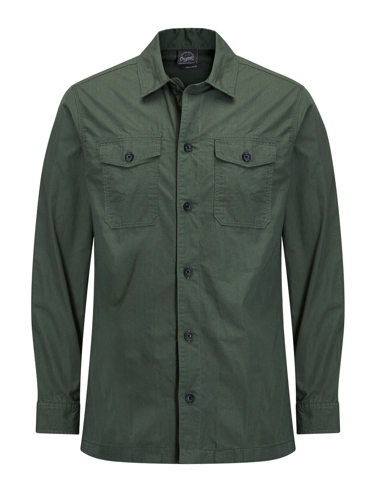 JACK & JONES Bedrukte Jas Heren Green thumbnail
