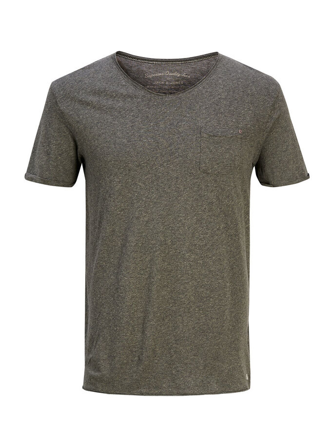 PLAIN T-SHIRT, Olive Night, large
