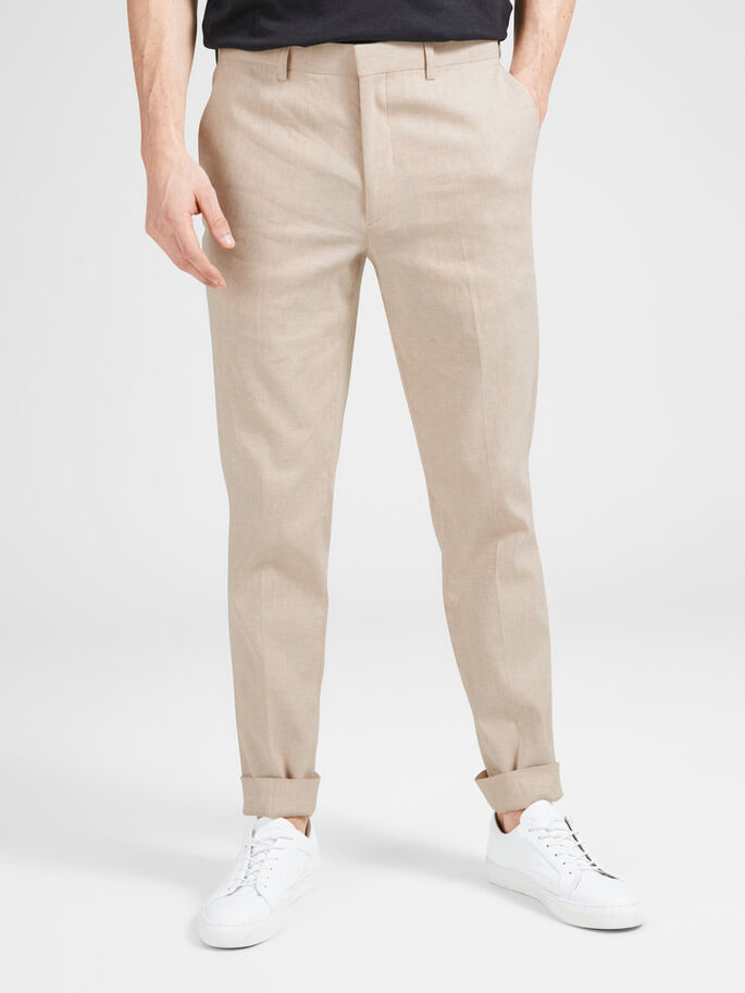 82180ab89cb Linen trousers | JACK & JONES