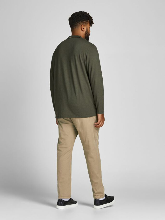 2-PACK MARCO DAVE STRETCH PLUS SIZE CHINOS, Beige, large