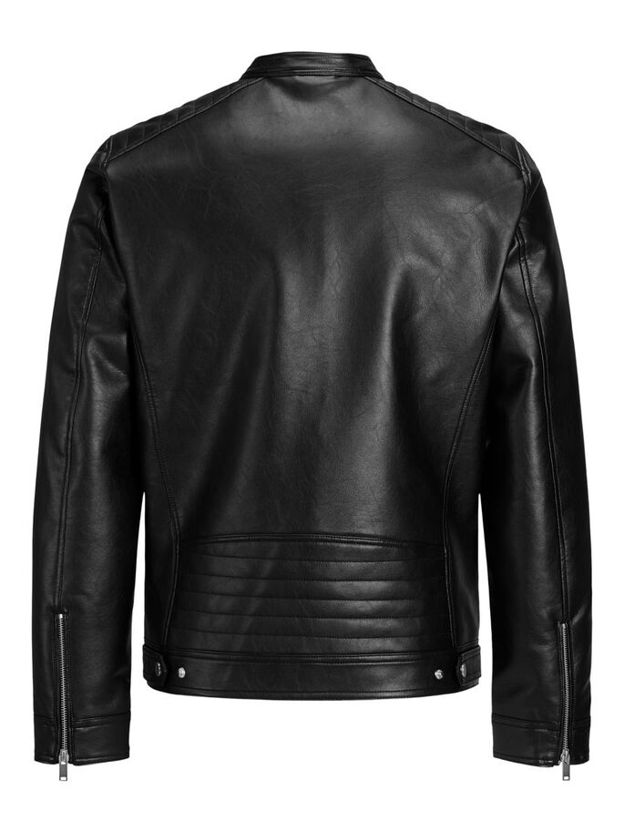 RACER GIACCA IN SIMILPELLE, Black, large