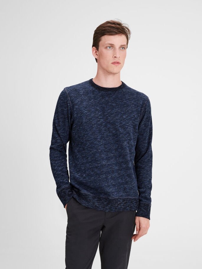 LÄSSIGES SWEATSHIRT, Mood Indigo, large