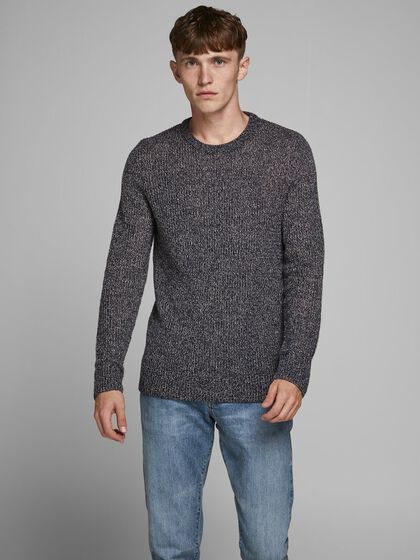 CREW NECK KNITTED PULLOVER