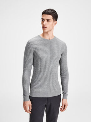STRUCTURED KNITTED PULLOVER