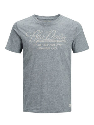 JACK & JONES Lässiges T-shirt Herren Blau | 5713737873827