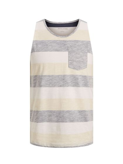 STRIPED CHEST POCKET TANK TOP