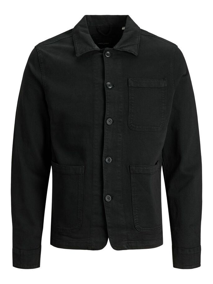 LUCAS AKM DENIM JACKET, Black, large