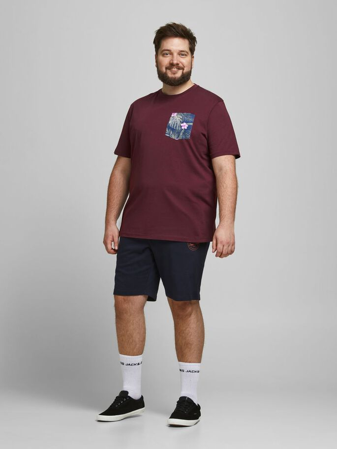 PRINTED PLUS SIZE T-SHIRT, Port Royale, large