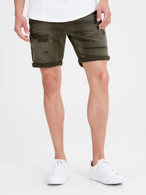 RICK ORG SHORTS JOS 100 INDIGO KNIT DENIM SHORTS