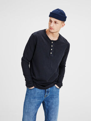 HENLEY LONG SLEEVED TOP